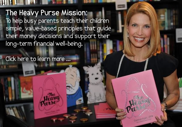 The Heavy Purse Mission is to help busy parents teach their children value-based principles that guide their money decisions and support their financial well-being.