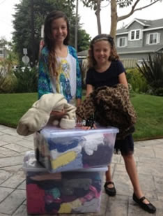 Lauren and Taylor Donate Clothes