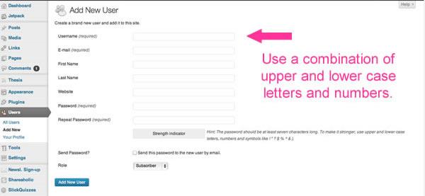 Input New User Name