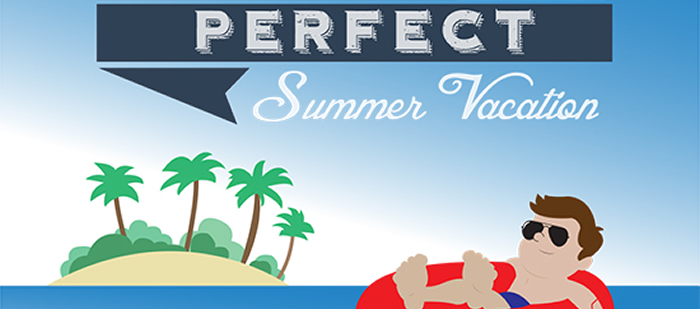Steps to the Perfect Summer Vacation #Infographic