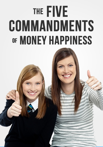 5 Commandments of Money Happiness | www.TheHeavyPurse.com #MoneyHappiness #IntentionalLiving