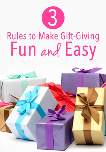 3 Rules to Make Gift-Giving Fun and Easy   www.TheHeavyPurse.com