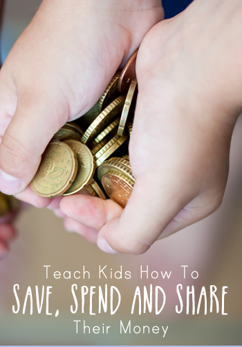 Teach Kids How To Save Spend and Share Their Money | www.TheHeavyPurse.com